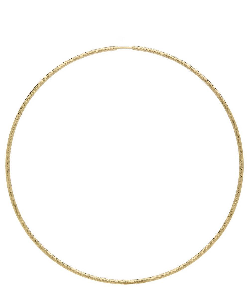 Gold Diamond Cut Liv 65 Hoop Earring