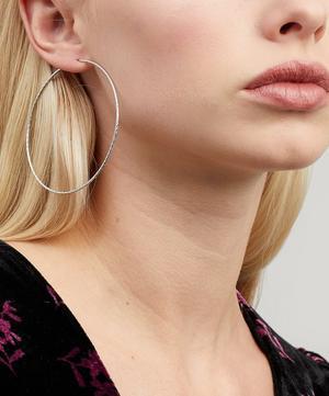 White Gold Diamond Cut Liv 65 Hoop Earring