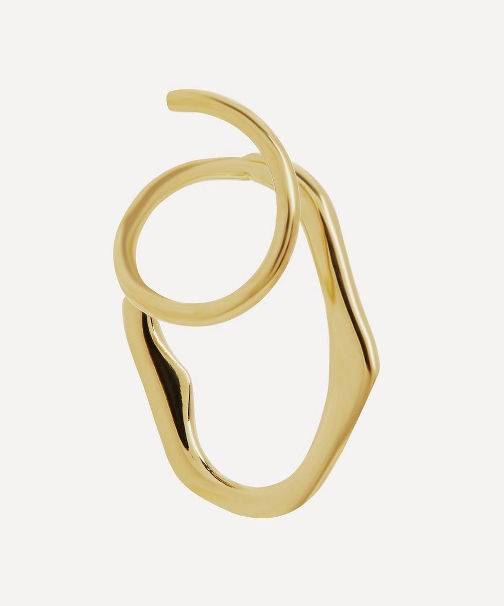 Gold-Plated Lake Twirl Earring Right