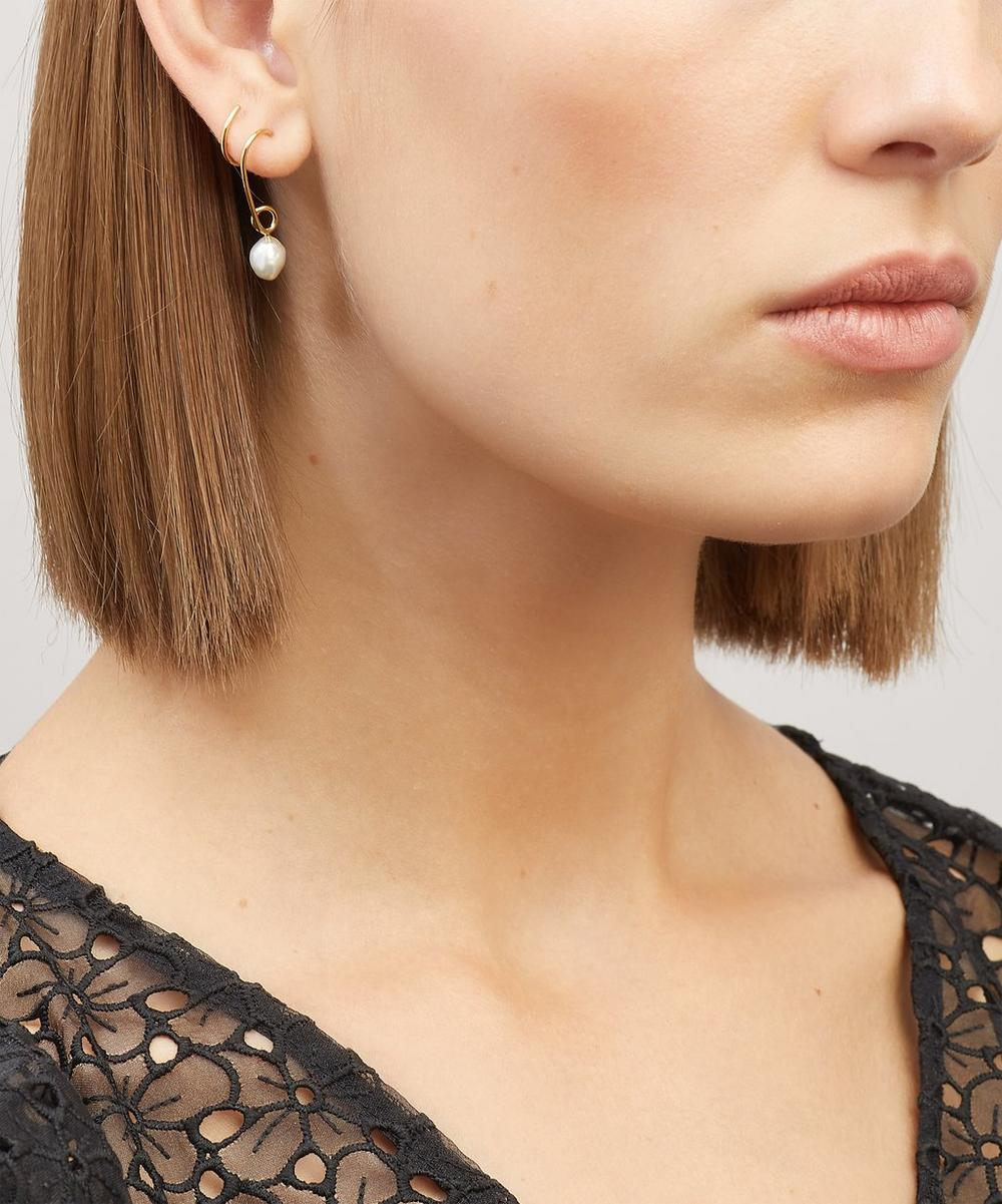Gold-Plated Detour Baroque Pearl Twirl Earring Right