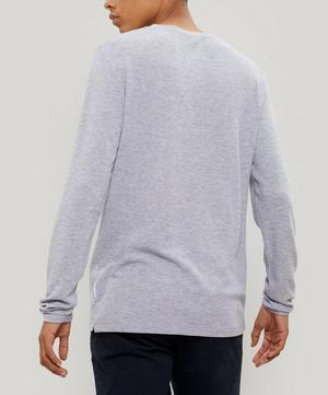 Clive Waffle Knit Mélange Cotton-Blend Long-Sleeve T-Shirt