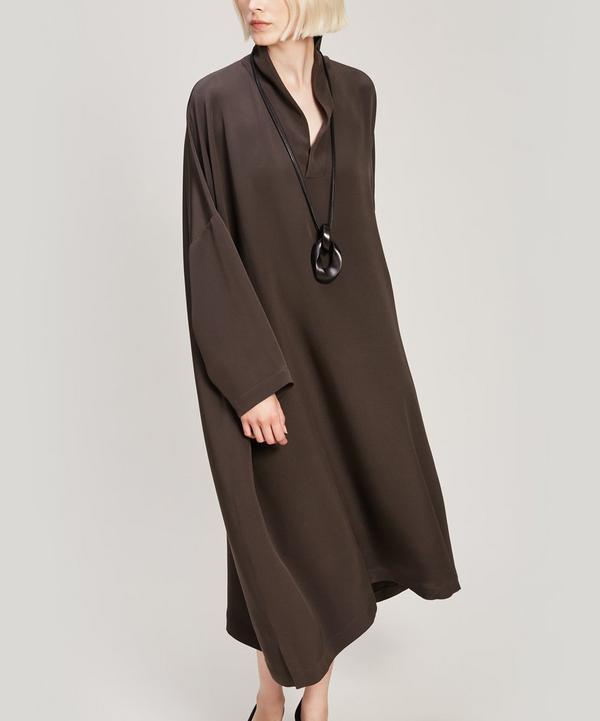 Imperial Scrunch Silk Dress