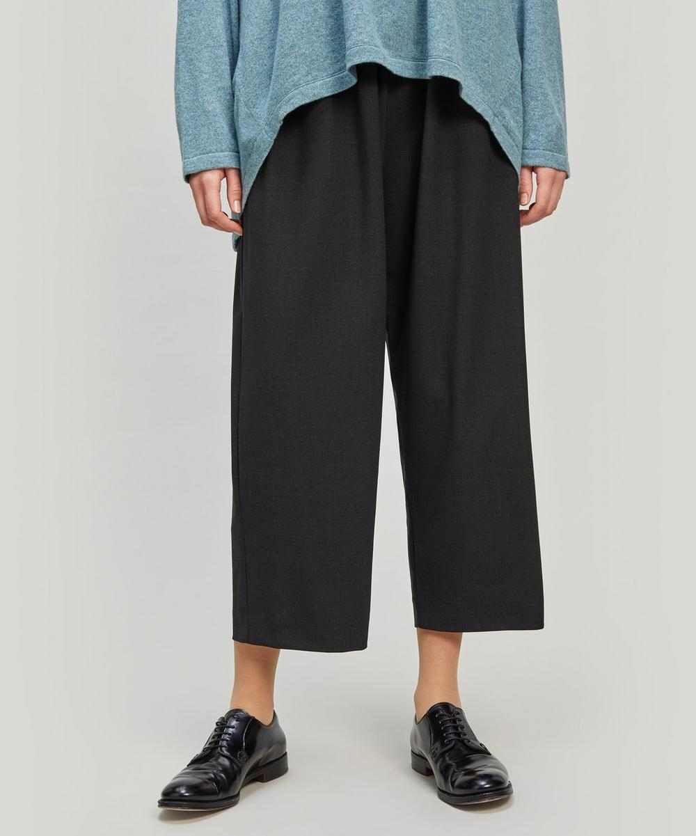 Stretch-Wool Japanese Trousers