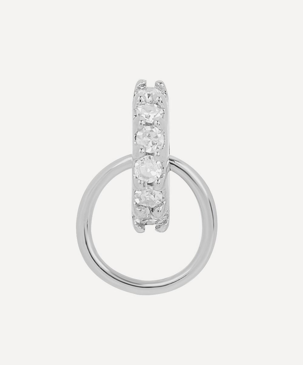 White Gold Lila Diamond Hoop Labret Earring