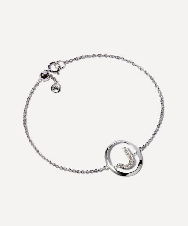 Annoushka - 18ct White Gold Diamond Initial J Bracelet