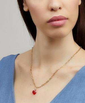 Gold-Plated Sweet Love Small Crystal Heart Necklace