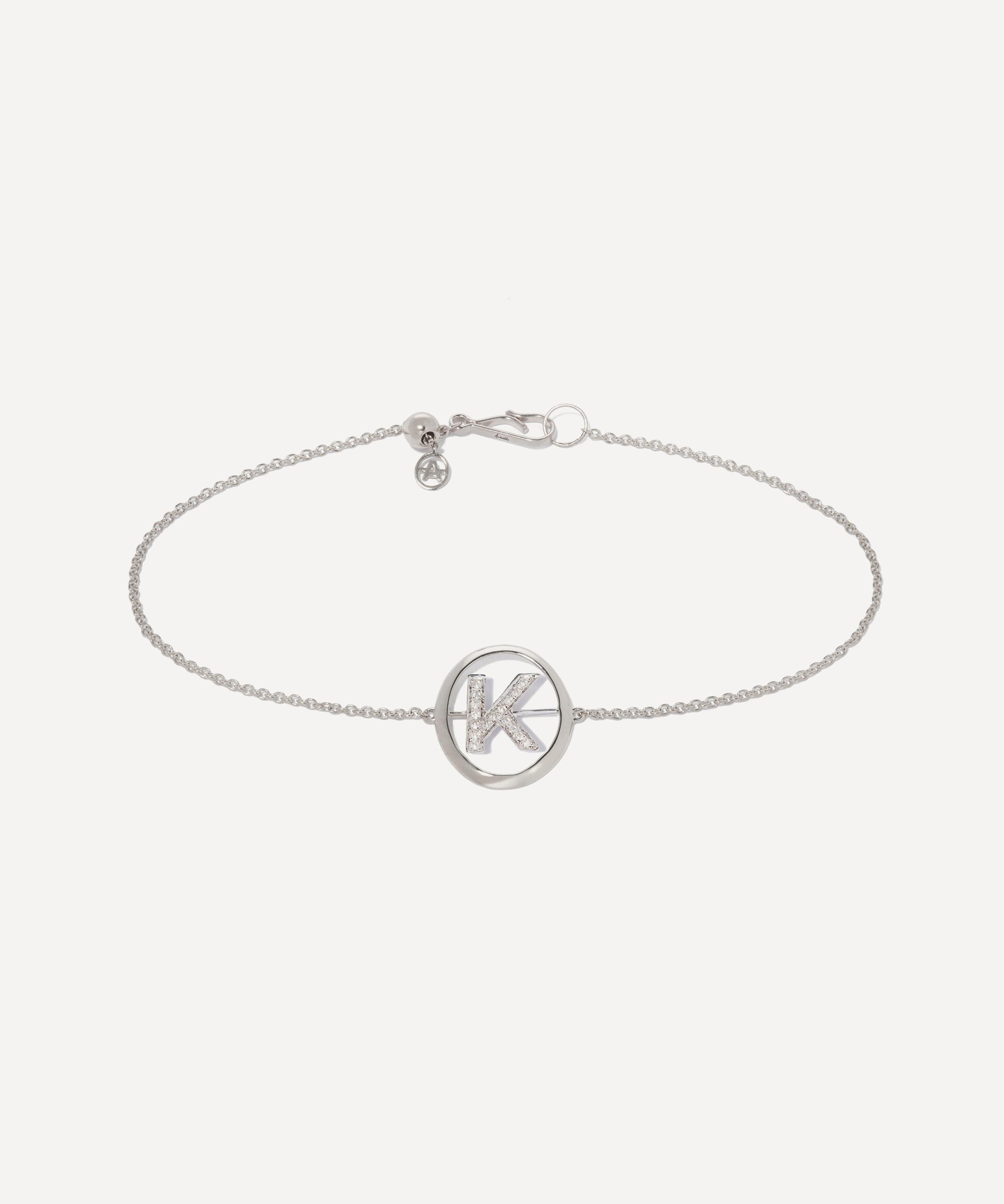 Diamond Initial I Yellow Gold Charm Anklet