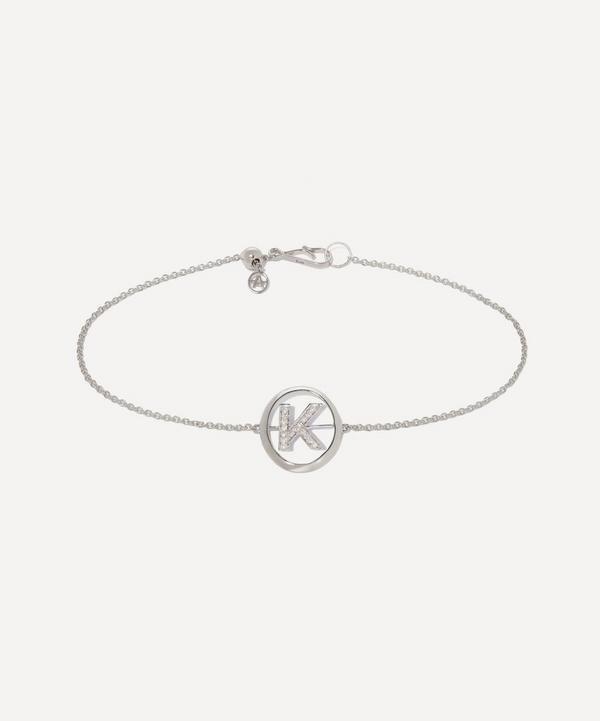 Annoushka - 18ct White Gold Diamond Initial K Bracelet