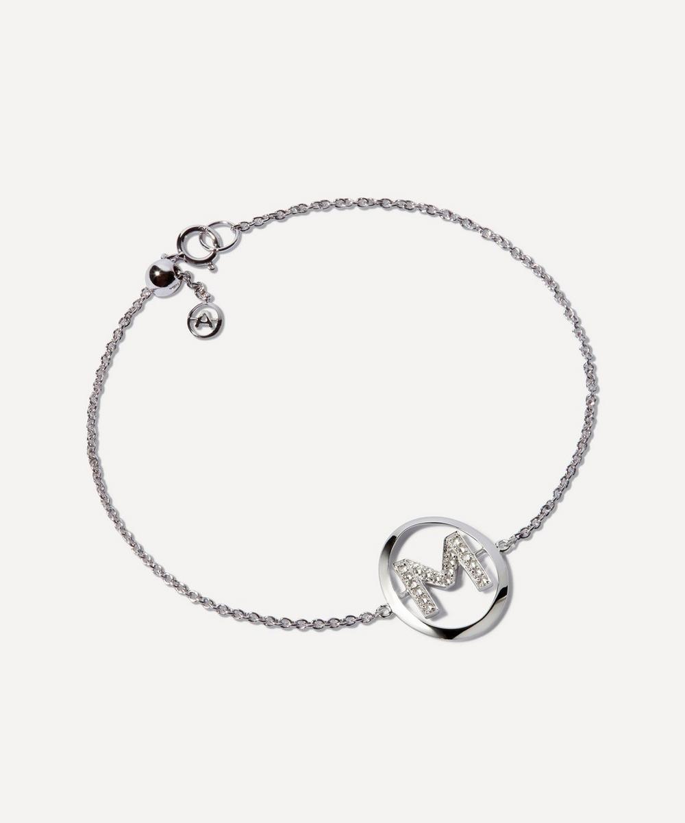 Annoushka - 18ct White Gold Diamond Initial M Bracelet