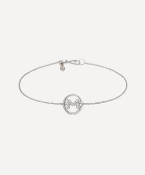 18ct White Gold Diamond Initial M Bracelet