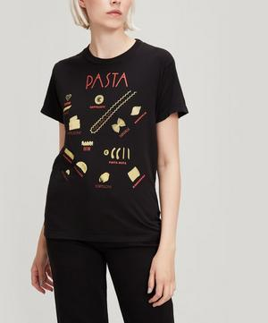 Pasta Print Cotton T-Shirt