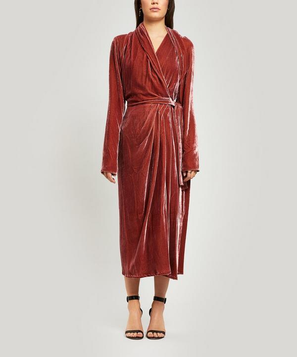 Velvet Wrap Gown