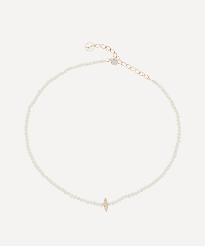 ba8c9b259e23a Gold Perle Rare Pearl and Diamond Choker Necklace