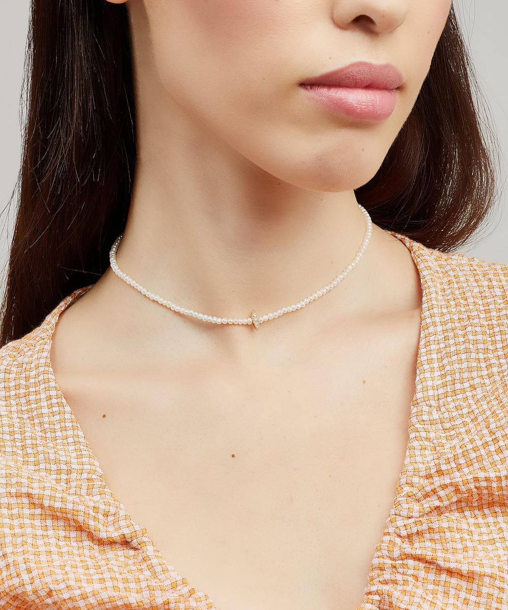 Gold Perle Rare Pearl and Diamond Choker Necklace