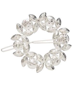 Rhea Crystal Wreath Barrette Hair Clip
