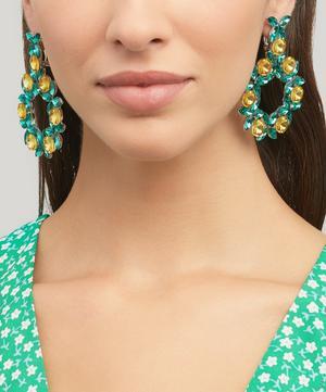 Phoenix Crystal Wreath Drop Earrings