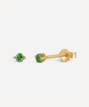 Gold Shuga Green Tsavorite Stud Earrings