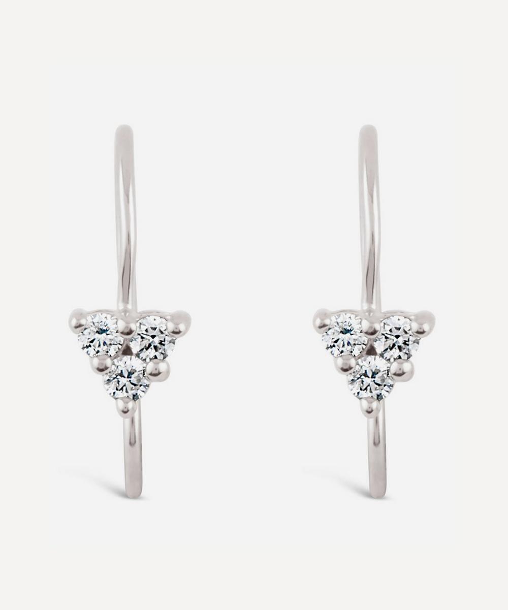 White Gold Shuga Diamond Trillion Drop Earrings