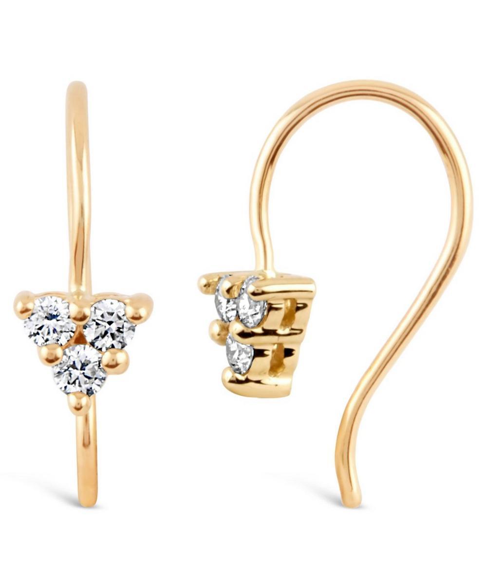 Gold Shuga Diamond Trillion Drop Earrings