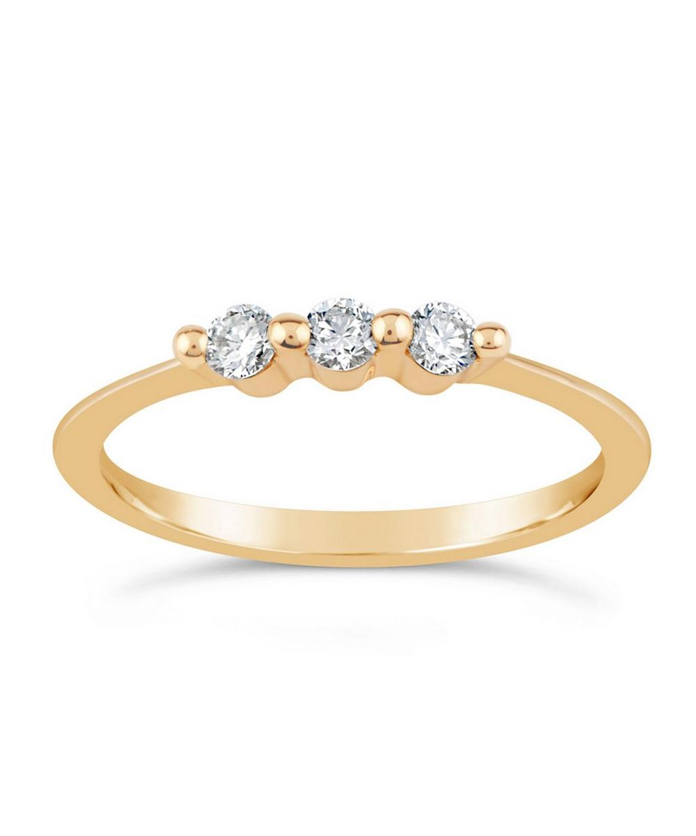 Gold Shuga Triple Diamond Ring