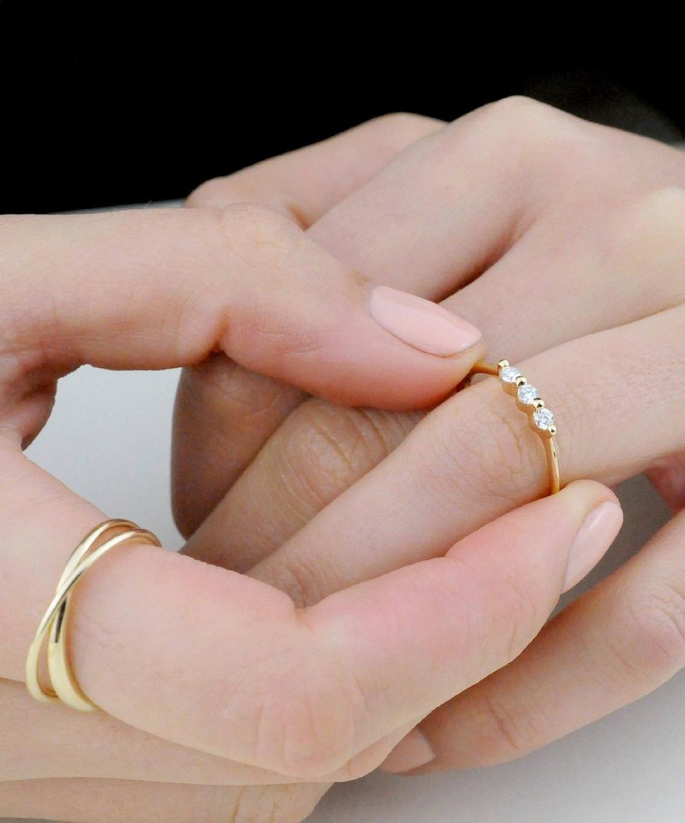 Gold Shuga Triple Diamond Ring