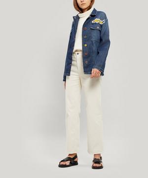Let's Go Embroidered Denim Jacket