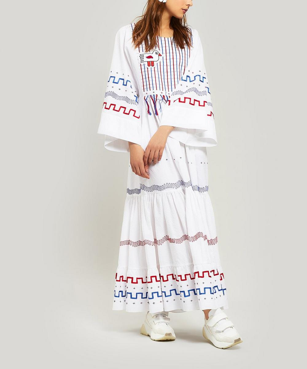 Gypsy Embroidered Maxi-Dress