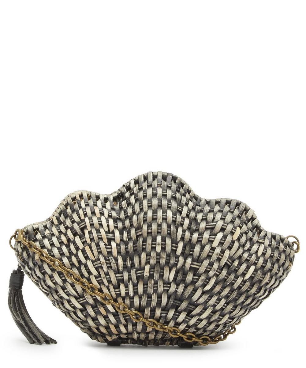 Jane Straw Shell Clutch Bag