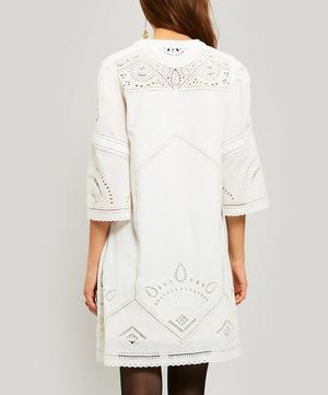 Agatha Embroidered Cotton Shift-Dress