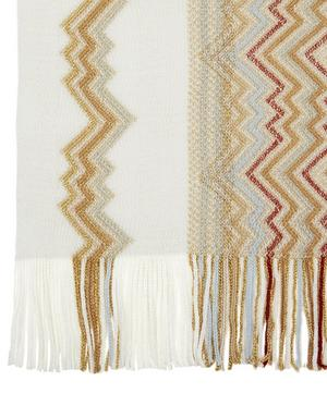 Knitted Zig-Zag Wool-Blend Scarf