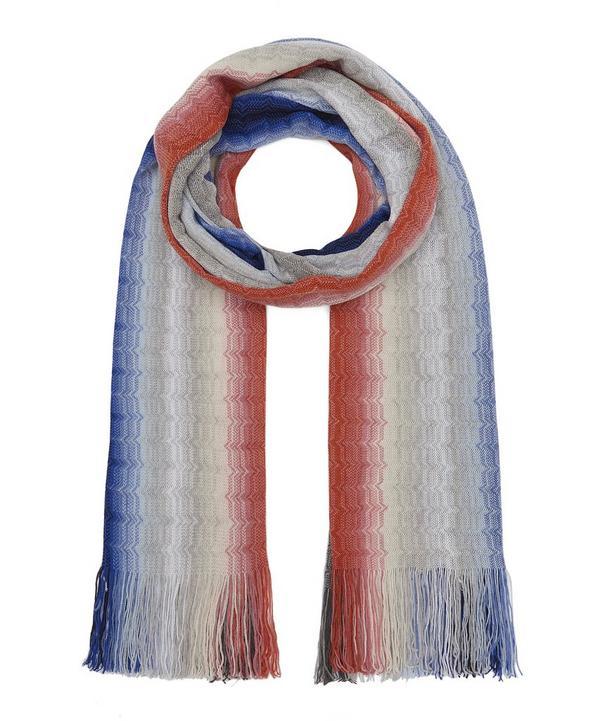 f8d1b945a39f Blurred Stripe Knitted Wool-Blend Scarf ...
