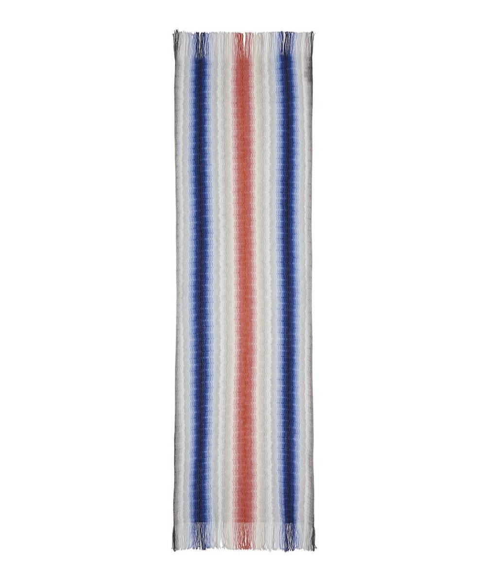 Blurred Stripe Knitted Wool-Blend Scarf