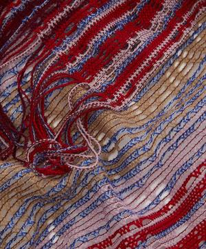 Zig-Zag Stripe Open Weave Cape