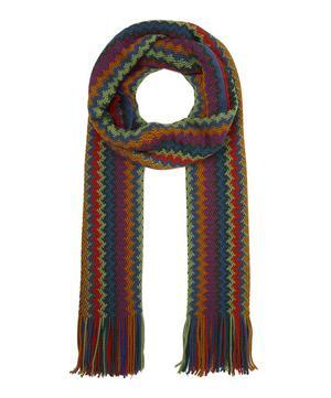 Zig-Zag Stripe Wool Scarf