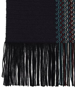 Irregular Thin Stripe Wool-Blend Scarf