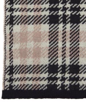 Check Large Logo Wool-Blend Scarf