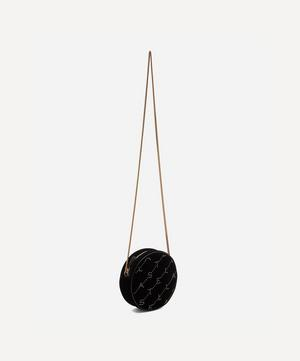 Mini Round Monogram Velvet Bag