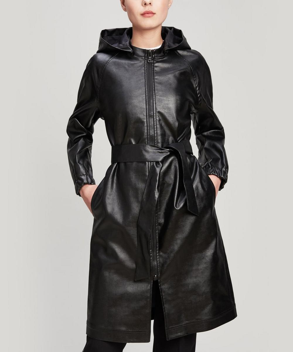 A.P.C. Angele Hooded Trench Coat In Black