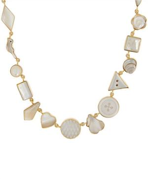 Gold-Plated Multi-Stone Charm Necklace