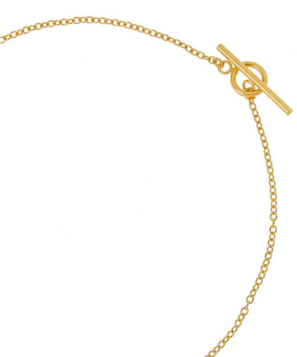 Gold-Plated Multi-Stone Five Charm Necklace