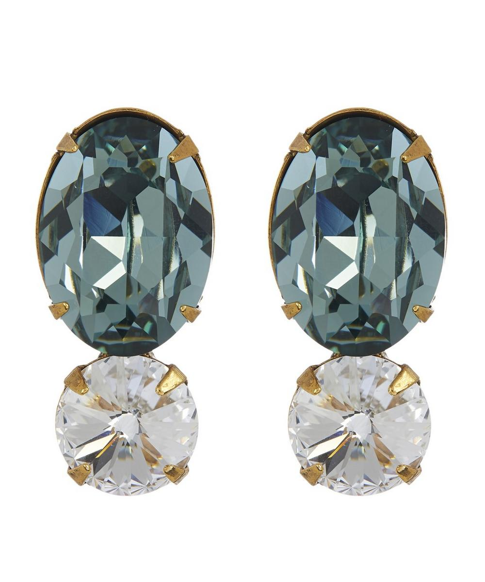 Charissa Double Crystal Drop Earrings