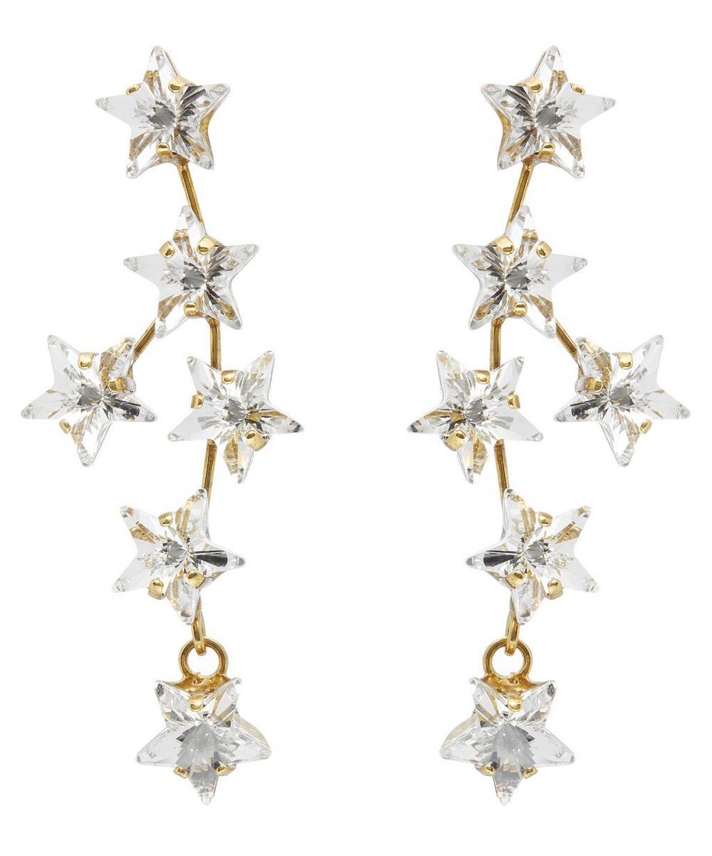 Crystal Star Drop Earrings