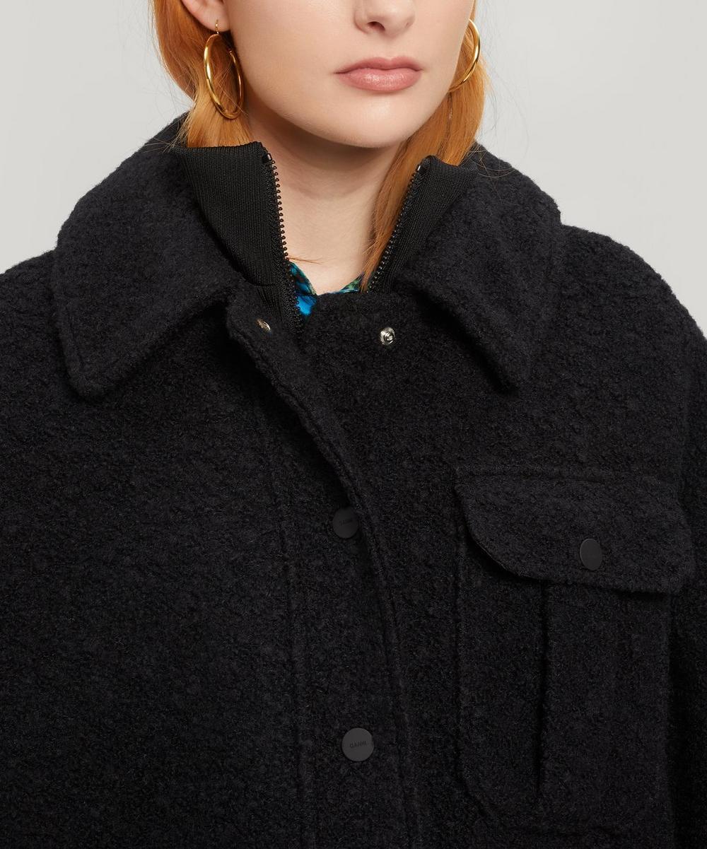 Oversized Boucle Wool Jacket