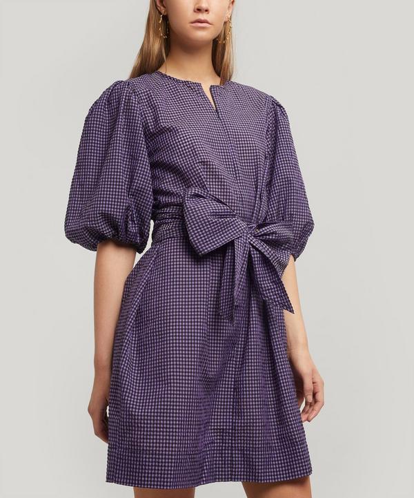 Seersucker Check Mini Dress