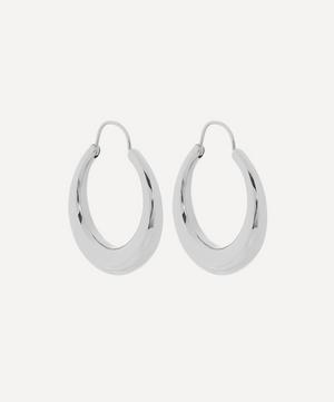 Silver Fat Snake Hoop Earrings
