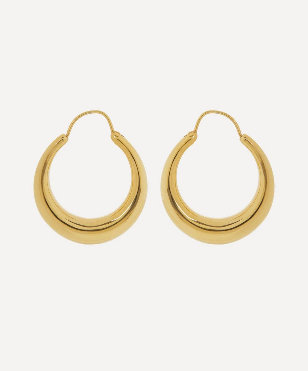 Gold Plated Vermeil Silver Fat Snake Hoop Earrings