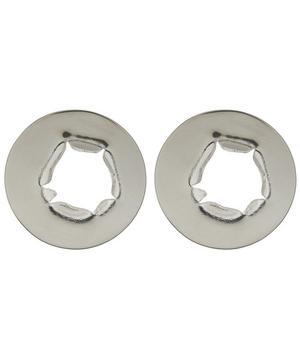 Silver Bullet Hole Oversized Stud Earrings