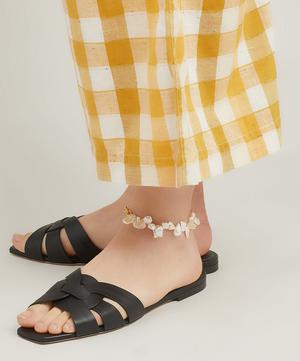 Gold-Plated Two Faced Shelley Baroque Pearl Anklet