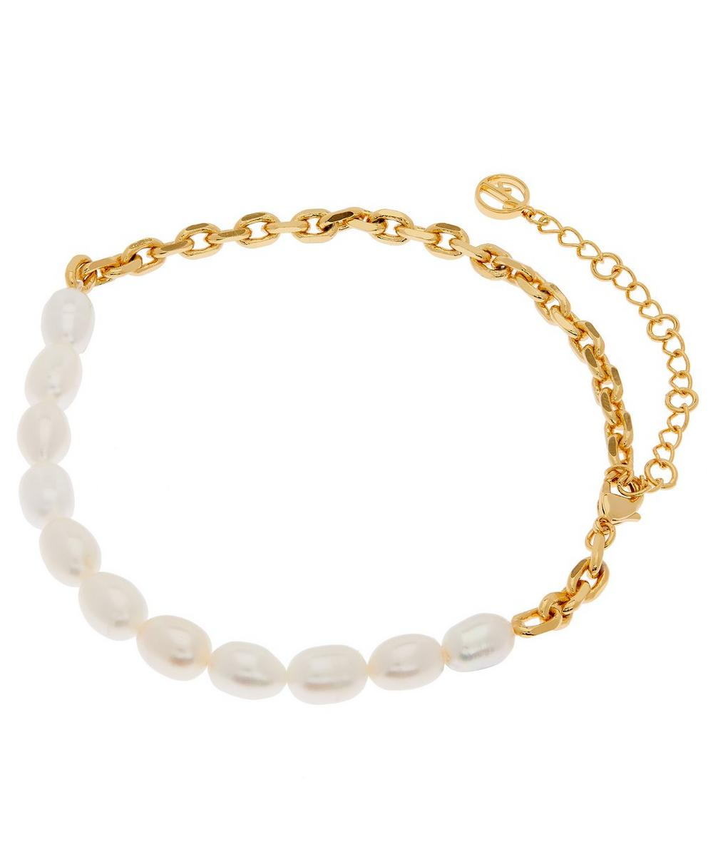 Gold-Plated Duel Pearl Anklet