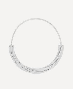 White Rhodium-Plated Tove Medium Hoop Earring